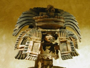 Clay Toltec Headress